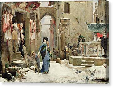 The Wolf Of Gubbio Canvas Print by Luc Oliver Merson