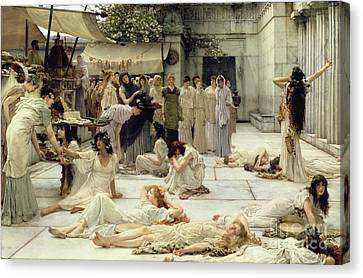 The Women Of Amphissa Canvas Print by Sir Lawrence Alma-Tadema
