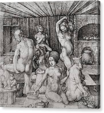 The Women's Bath, 1496 Canvas Print by Albrecht Durer