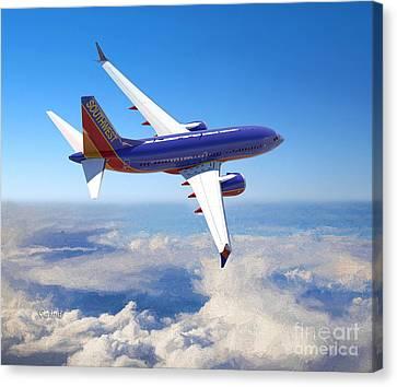 The Wonder Of Flight Canvas Print by Garland Johnson