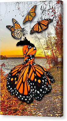Canvas Print featuring the mixed media The Wonder Of You by Marvin Blaine