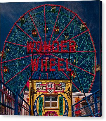 The Wonder Wheel At Luna Park Canvas Print