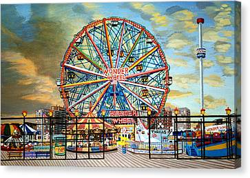 The Wonder Wheel  Canvas Print by Bonnie Siracusa