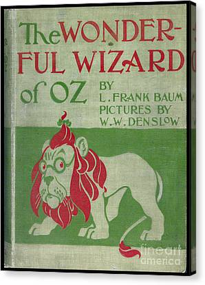 The Wonderful Wizard Of Oz First Edition Canvas Print by Edward Fielding