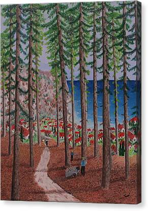 The Wood Collectors Canvas Print by Hilda and Jose Garrancho
