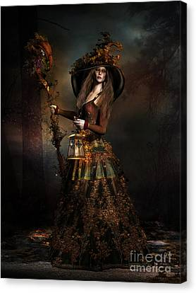 The Wood Witch Canvas Print by Shanina Conway