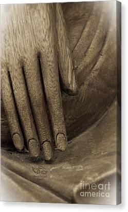 The Wooden Hand Of Peace Canvas Print