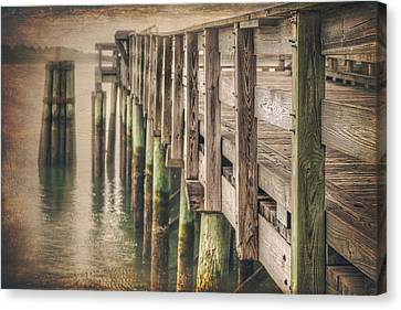 The Wooden Pier Canvas Print by Carol Japp