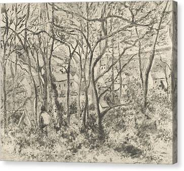 Hermitage Canvas Print - The Woods At L'hermitage, Pontoise by Camille Pissarro