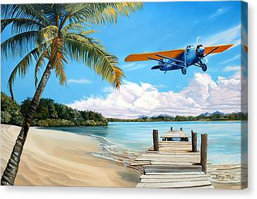 The Woolaroc Canvas Print by Kenneth Young