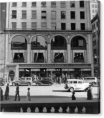 The Woolworth & Co. Store Canvas Print by Underwood Archives
