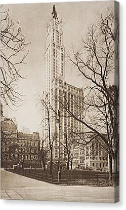 The Woolworth Building, New York. From Canvas Print by Vintage Design Pics