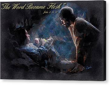 The Word Became Flesh Canvas Print