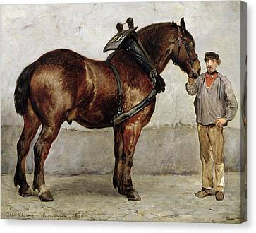 Reins Canvas Print - The Work Horse by Otto Bache