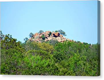 Canvas Print featuring the photograph The World Above by Teresa Blanton