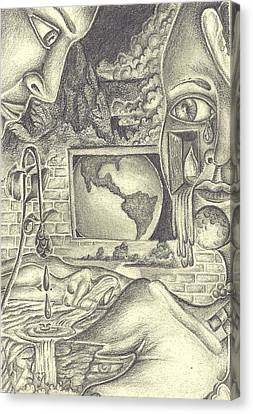 The World Cries Canvas Print by Karen Musick