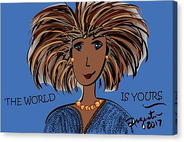 Lead The Life Canvas Print - The World Is Yours by Sharon Augustin