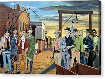 The World Of Classic Westerns Canvas Print by Tony Banos