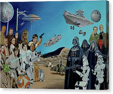 The World Of Star Wars Canvas Print by Tony Banos