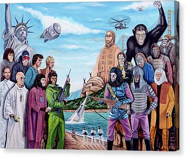 The World Of The Planet Of The Apes Canvas Print by Tony Banos