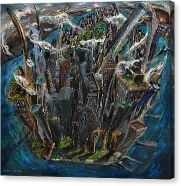 The Worlds Capital Canvas Print by Antonio Ortiz