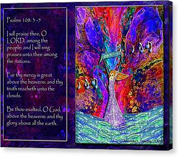 The Worshipping Heart And The Anointing Of Colors Canvas Print by Cassandra Donnelly