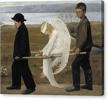 The Wounded Angel Canvas Print by MotionAge Designs