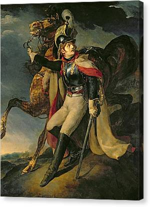 The Wounded Cuirassier Canvas Print