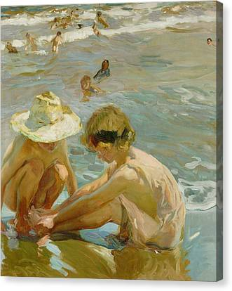 The Wounded Foot Canvas Print by Joaquin Sorolla y Bastida