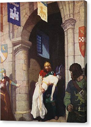 The Wounded Helen Canvas Print by Newell Convers Wyeth