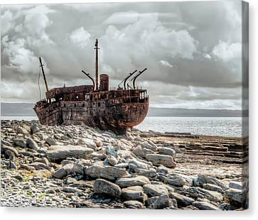 The Wreck Of Plassey Canvas Print by Natasha Bishop