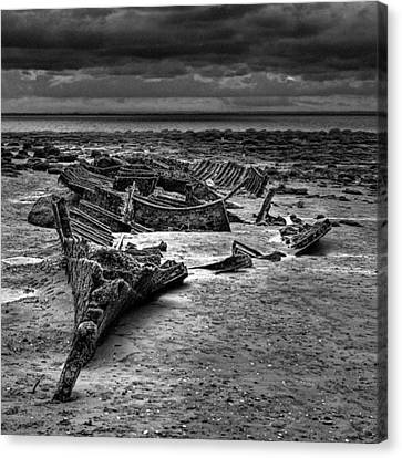 The Wreck Of The Steam Trawler Canvas Print by John Edwards