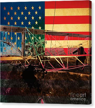 The Wright Bothers An American Original Canvas Print by Wingsdomain Art and Photography