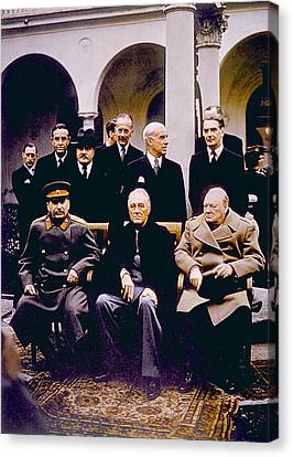 Prime Canvas Print - The Yalta Conference, Seated Joseph by Everett