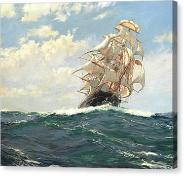 The Yankee Packet Dreadnought Canvas Print by Montague Dawson