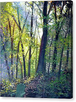 The Yard - Summer Dawn Canvas Print by Gregg Hinlicky