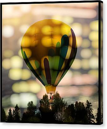 The Yellow Hot Air Balloon Canvas Print by Thom Zehrfeld