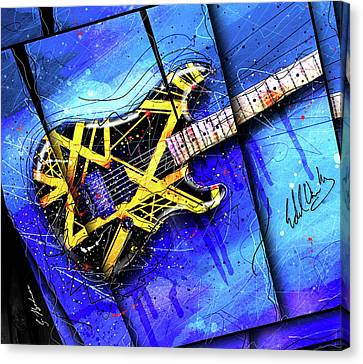 Van Halen Canvas Print - The Yellow Jacket_cropped by Gary Bodnar