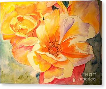 The Yellow Rose Canvas Print by Carol Grimes