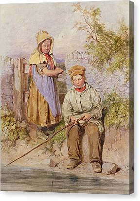 The Young Anglers Canvas Print by James Hardy Junior