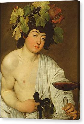 Glass Of Wine Canvas Print - The Young Bacchus by Caravaggio