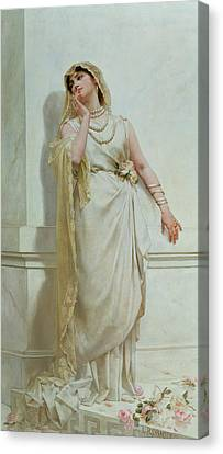 The Young Bride Canvas Print by Alcide Theophile Robaudi
