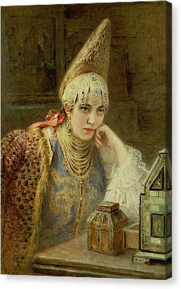 The Young Bride Canvas Print by Konstantin Egorovich Makovsky