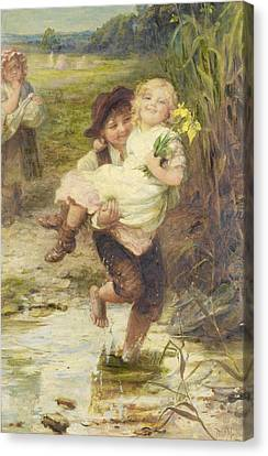 The Young Gallant Canvas Print by Fred Morgan