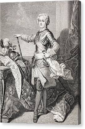 The Young King Louis Xv Of France, 1710 Canvas Print by Vintage Design Pics