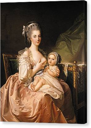 The Young Mother Canvas Print by Jean Laurent Mosnier