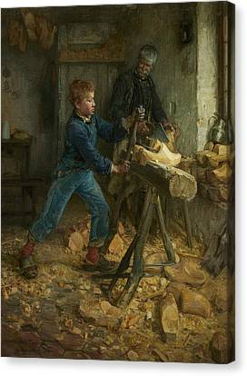 The Young Sabot Maker Canvas Print