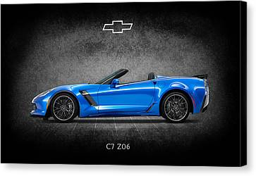 The Z06 Canvas Print by Mark Rogan