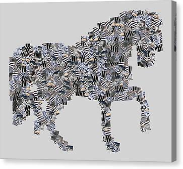 The Zebra Horse Canvas Print by Tommytechno Sweden