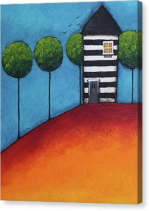 The Zebra House Canvas Print by Lucia Stewart